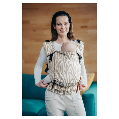 Baby Carrier - Be Lenka 4ever Neo - Zebra - Latte wide with the possibility of crossing