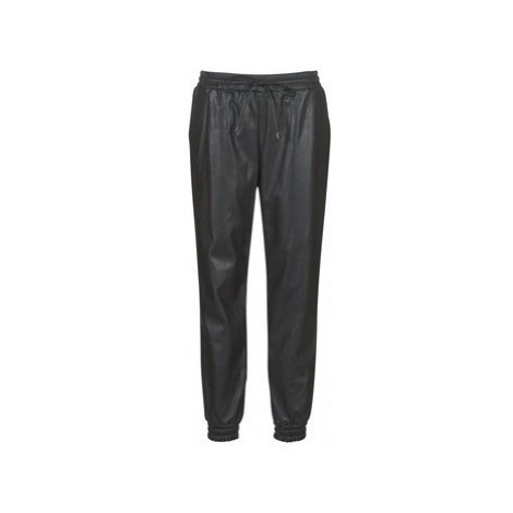 MICHAEL Michael Kors LEATHER JOGGER PANT women's Trousers in Black