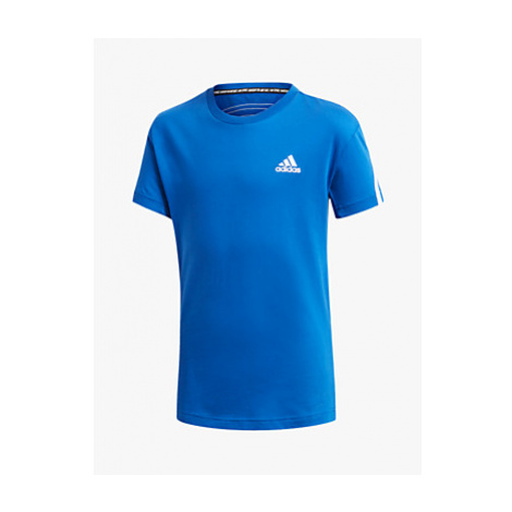 Adidas Boys' Logo Short Sleeve T-Shirt, Blue