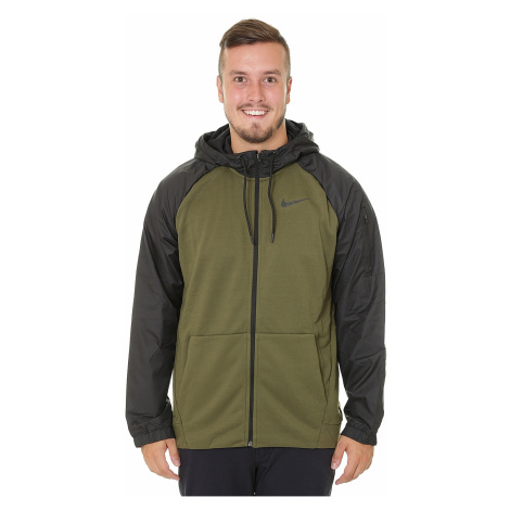 sweatshirt Nike Dri-Fit Zip - 395/Olive Canvas/Black - men´s