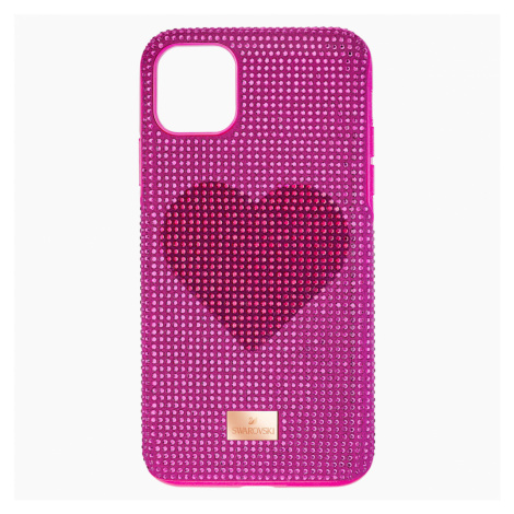 Crystalgram Heart Smartphone Case with Bumper, iPhone® 11 Pro Max, Pink Swarovski