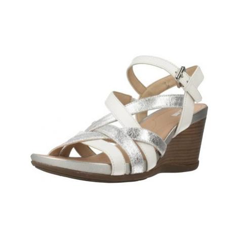 Geox D DOROTHA women's Sandals in Silver
