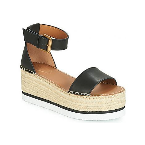 See by Chloé SB32201A women's Espadrilles / Casual Shoes in Black