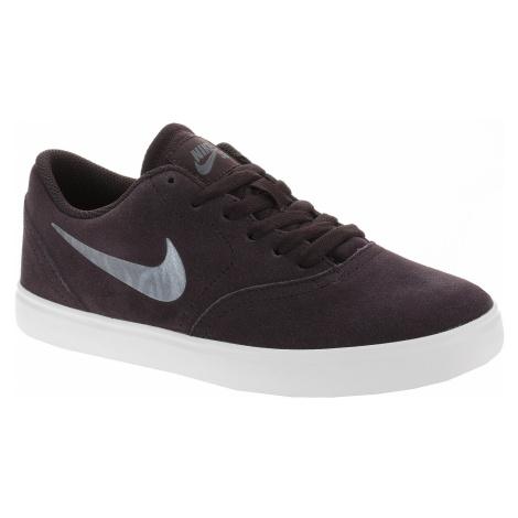 shoes Nike SB Check Suede Ess+ GS - Burgundy Ash/Metallic Blue Dusk/White - unisex junior