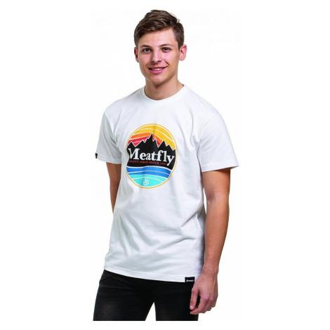 T-Shirt Meatfly Brisk - B/White - men´s