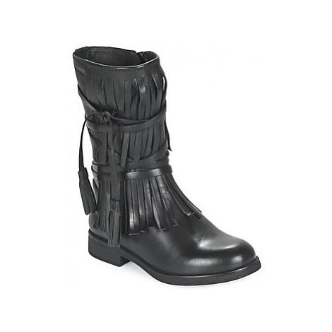 Geox AGATE girls's Children's High Boots in Black