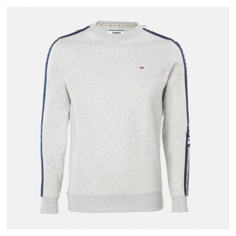 Tommy Jeans Men's Branded Tape Sweatshirt - Light Grey Heather Tommy Hilfiger
