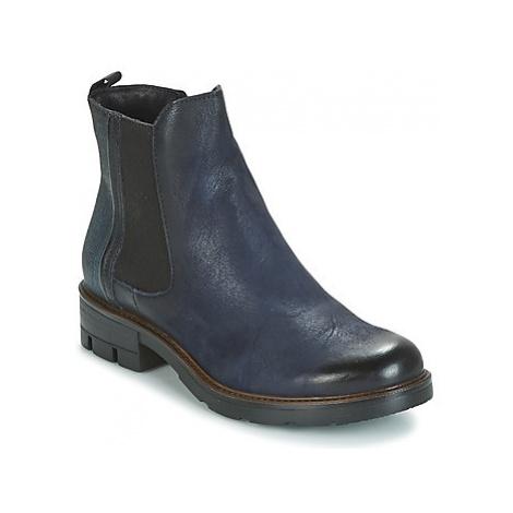 Blue women's chelsea boots