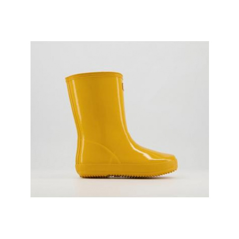 Hunter First Classic Welly YELLOW GLOSS