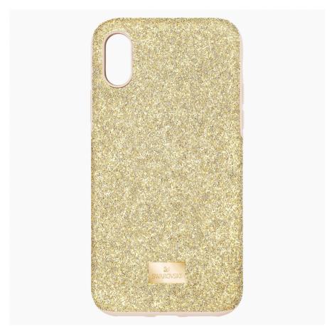 High Smartphone Case with Bumper, iPhone® X/XS, Gold tone Swarovski
