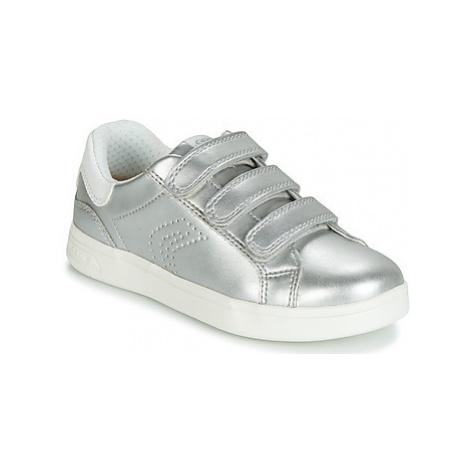 Geox DJROCK girls's Children's Shoes (Trainers) in Silver