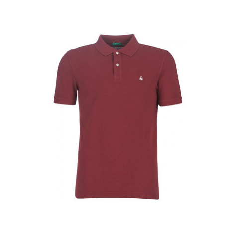 Benetton MADALO men's Polo shirt in Red United Colors of Benetton