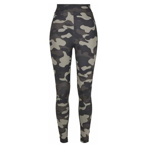Urban Classics - Ladies High Waist Camo Tech Leggings - Leggings - dark camo