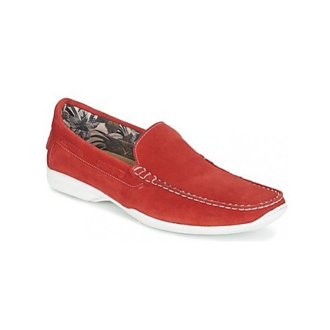 So Size ELIJA men's Loafers / Casual Shoes in Red