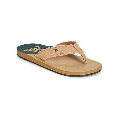 Rip Curl UNRAVEL men's Flip flops / Sandals (Shoes) in Beige