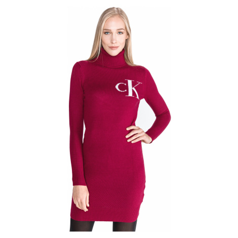 Calvin Klein Monogram Dress Red