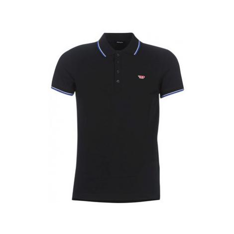 Diesel T RANDY NEW men's Polo shirt in Black