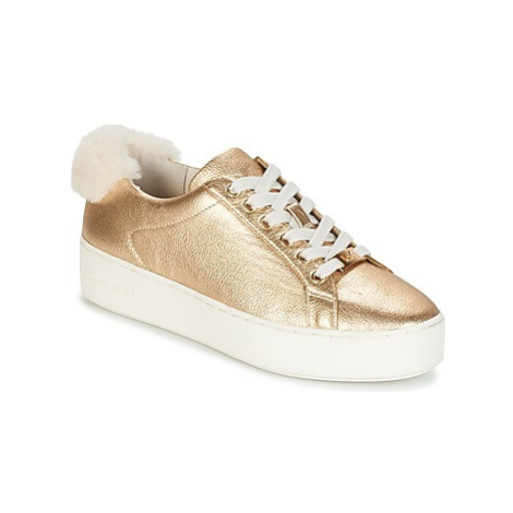 MICHAEL Michael Kors POPPY LACE UP women's Shoes (Trainers) in Gold