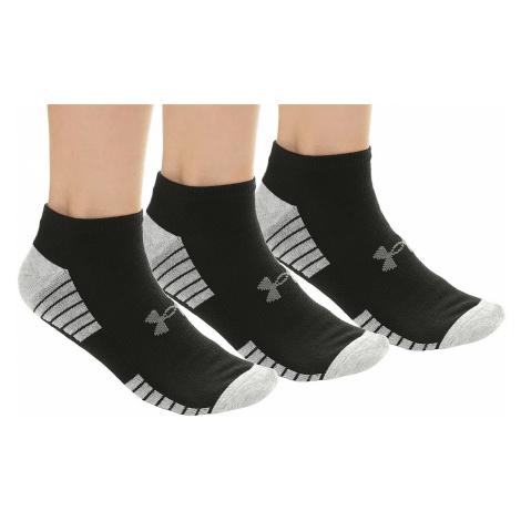 socks Under Armour HeatGear NS 3 Pack - 001/Black - unisex junior