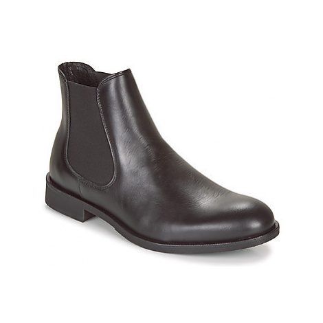 Selected LOUIS LEATHER CHELSEA men's Mid Boots in Black
