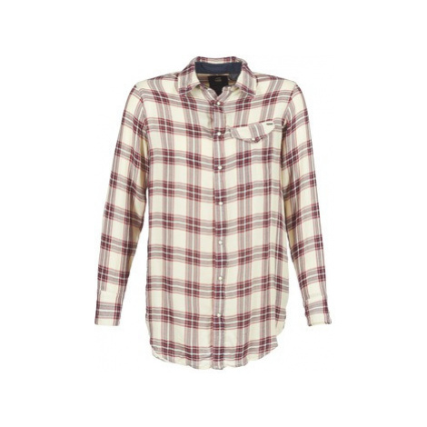 G-Star Raw TACOMA LONG CHECK 1 PKT BF women's Shirt in Beige