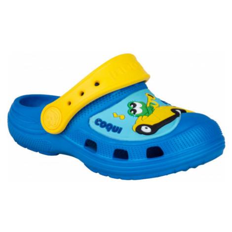 Coqui CROAKY yellow - Kids' sandals