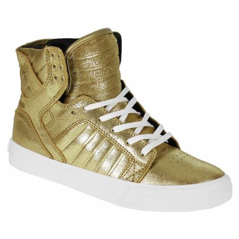 Supra Skytop Shoes - Gold/Black/White