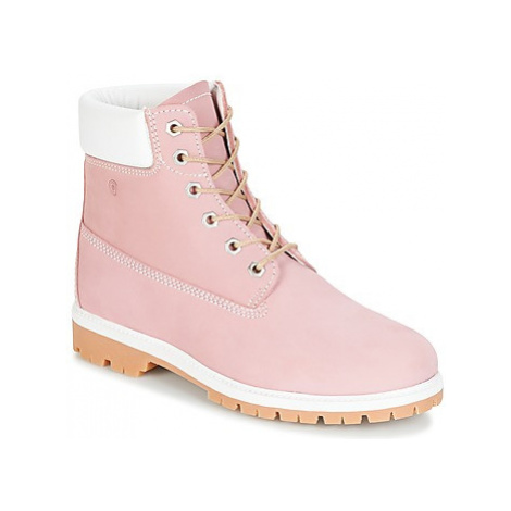 Casual Attitude HAPANA women's Mid Boots in Pink