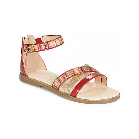 Geox J SANDAL KARLY GIRL girls's Children's Sandals in Red