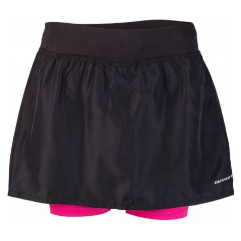 Arcore ARIANA black - Women's running shorts with a skirt