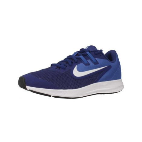 Nike DOWNSHIFTER 9 (GS) boys's Children's Shoes (Trainers) in Blue