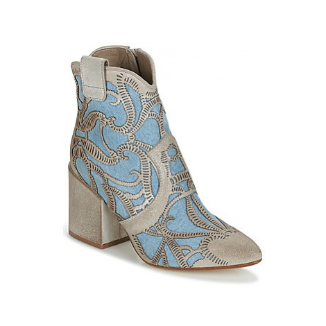 Now MOVIDA women's Low Ankle Boots in Beige