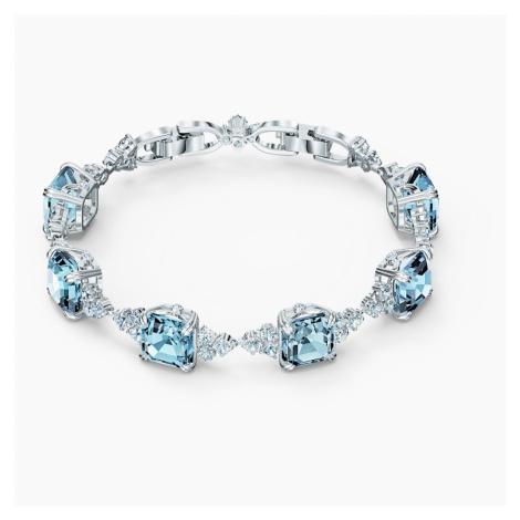 Sparkling Bracelet, Aqua, Rhodium plated Swarovski