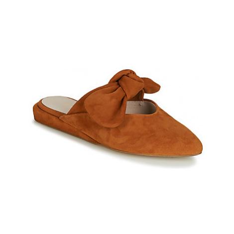 Brown women's slippers