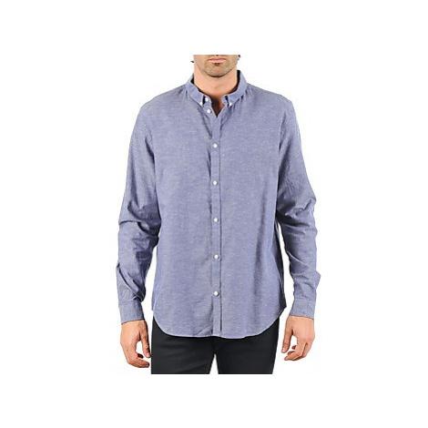 Cheap Monday DAMON BD SHIRT men's Long sleeved Shirt in Blue