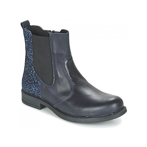 Citrouille et Compagnie HAYULE girls's Children's Mid Boots in Blue
