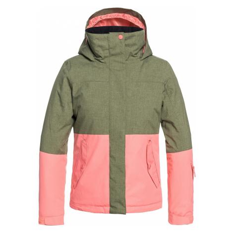 jacket Roxy Jetty Block - GPH0/Four Leaf Clover - girl´s