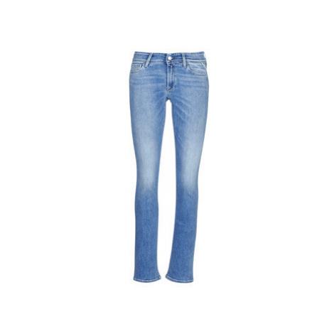 Blue women's bootcut jeans