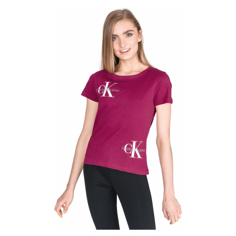 Calvin Klein Monogram T-shirt Pink Violet