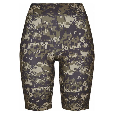 Urban Classics - Ladies Highwaist Camo Tech Cycle Shorts - Girls shorts - woodland
