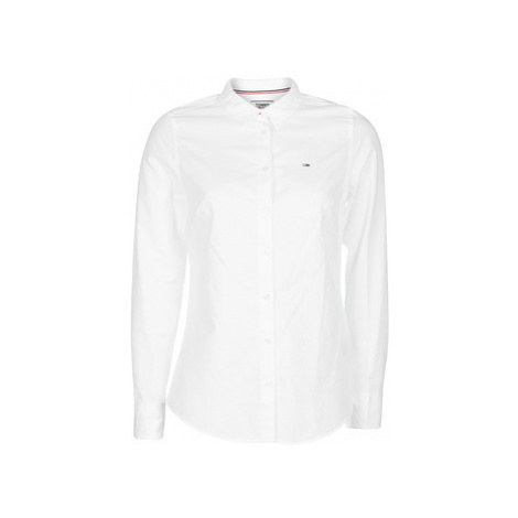 Tommy Jeans TJW SLIM FIT OXFORD SHIRT women's Shirt in White Tommy Hilfiger