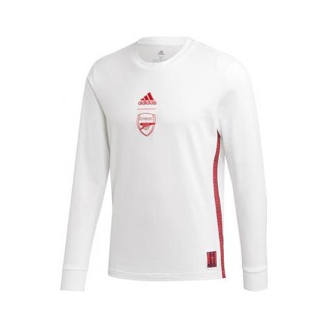 Arsenal Seasonal Long Sleeve Tee - White Adidas