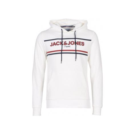 Jack Jones JORNEWSHAKEDOWN men's Sweatshirt in White Jack & Jones