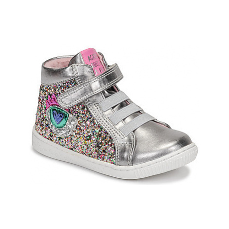 Agatha Ruiz de la Prada FLOW girls's Children's Shoes (High-top Trainers) in Silver