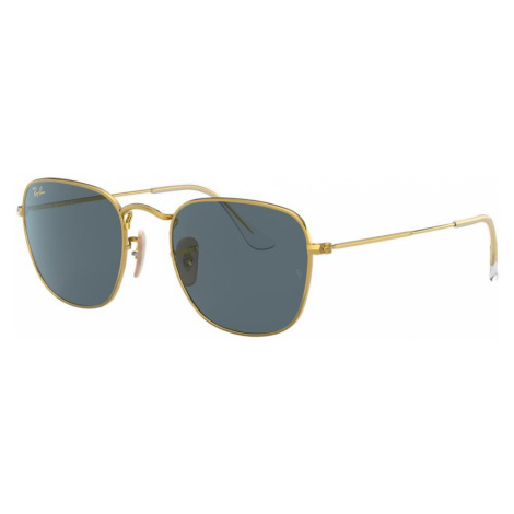Ray Ban Unisex RB3857 FRANK - Frame color: Gold, Lens color: Blue, Size 51-20/145