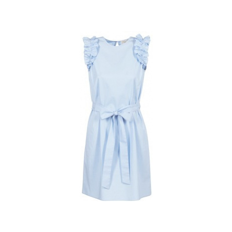 MICHAEL Michael Kors SLEEVESLESS RUFFLE DRS women's Dress in Blue