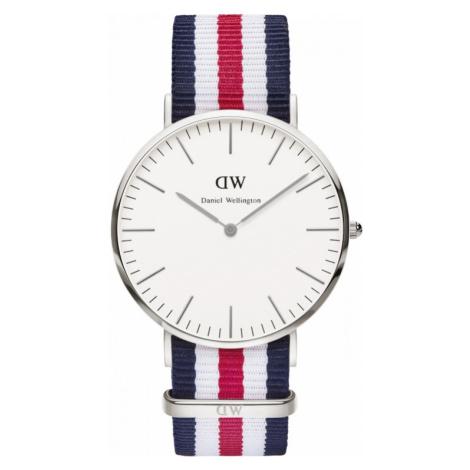 Mens Daniel Wellington Canterbury Silver 40mm Watch DW00100016