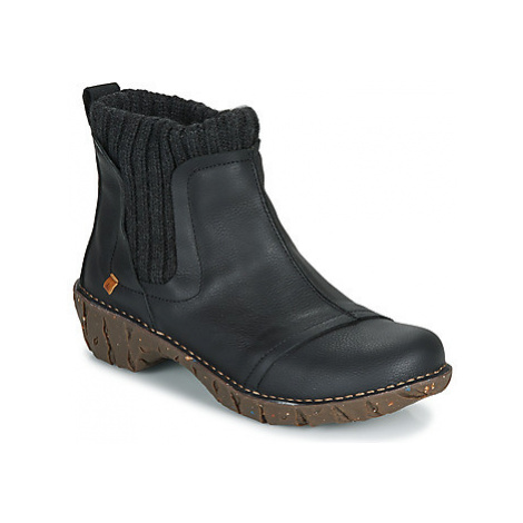 El Naturalista YGGDRASIL women's Mid Boots in Black