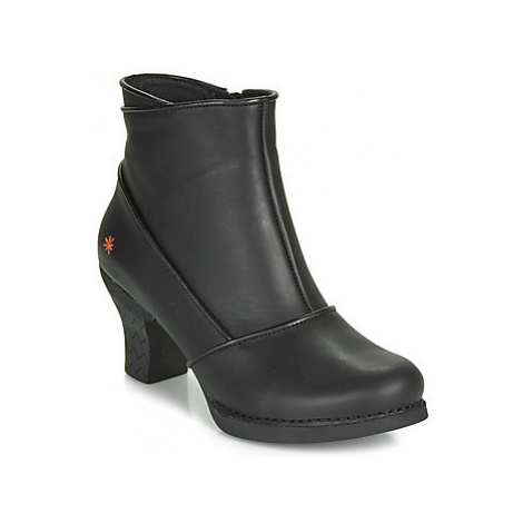 Art HARLEM women's Low Ankle Boots in Black