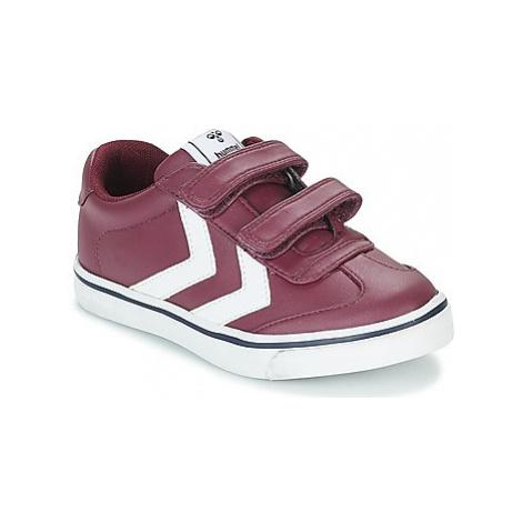 Hummel HOP JR girls's Children's Shoes (Trainers) in Purple
